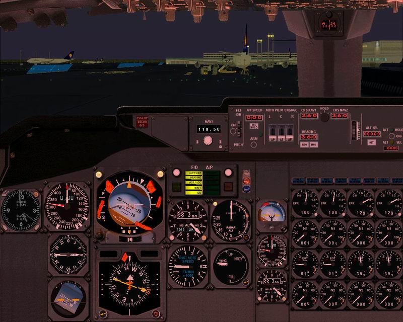 Boeing 747-100, 200, 300 & SP panel - Flight Simulator Addon