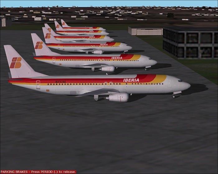 FS2002 - AI Traffic Iberia European Flightplans - Flight