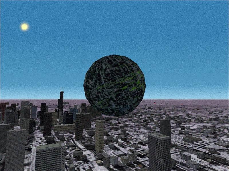 FS2002 STAR TREK BORG SPHERE - Flight Simulator Addon / Mod