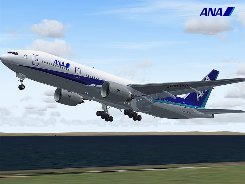 FS2004 Boeing 777-200 All Nippon Airways - Flight Simulator