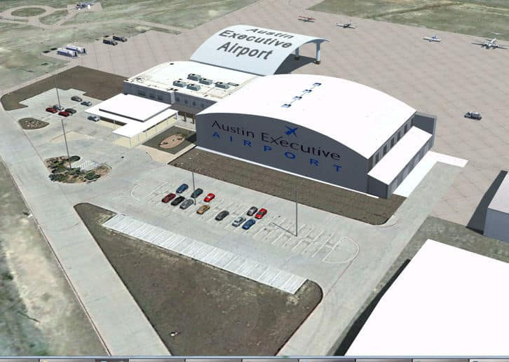 P3D/FSX Austin Executive Airport, Texas, Package - Flight