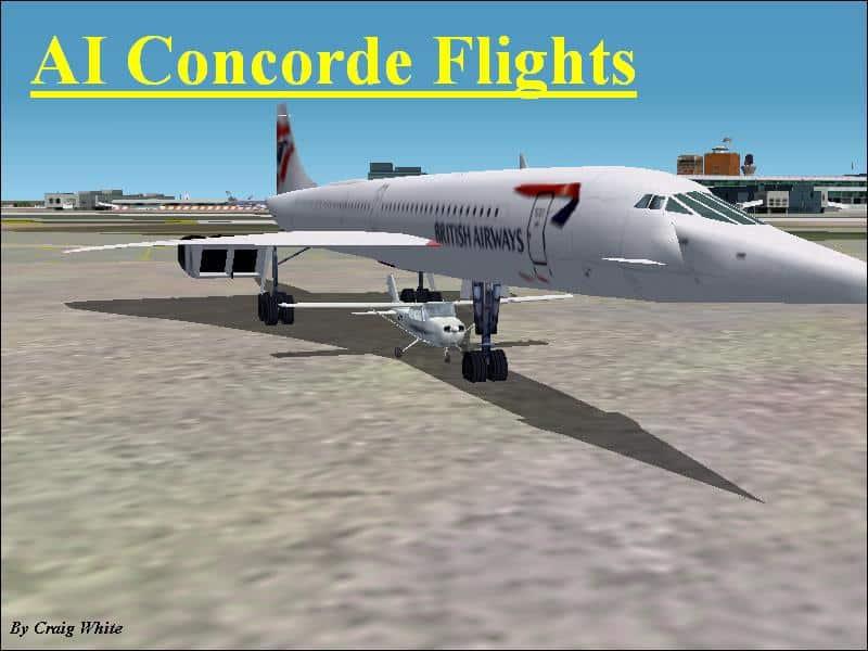 AI flight plans for the Concorde in FS2002 - Flight