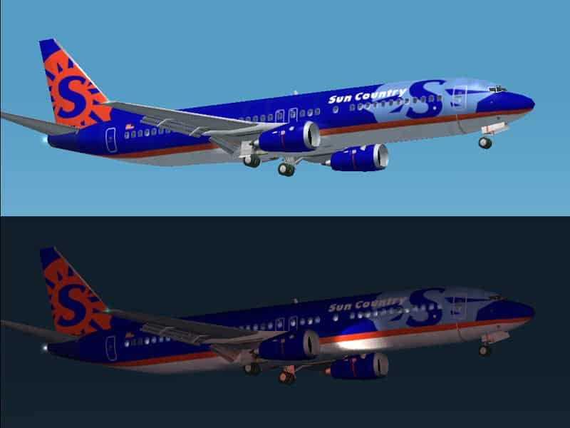 Fs2002 737 300 Sun Country Textures Only For Default 737 Flight Simulator 2002 Mod