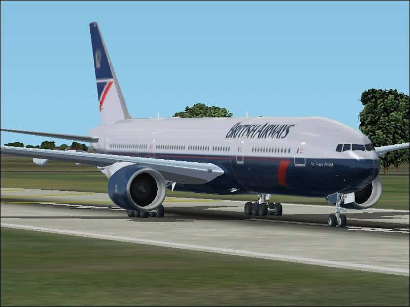 FS2002 British Airways Boeing 777-236 - Flight Simulator