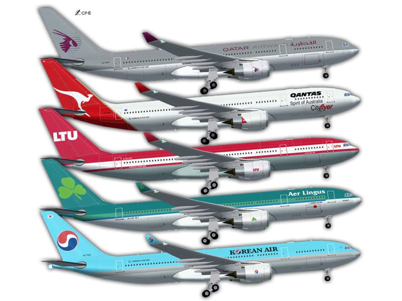 FS2002 Project Opensky Airbus A330-200 Multi Livery Pack GE