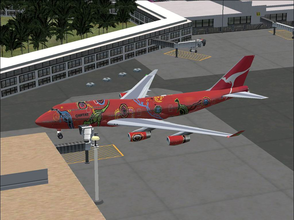 FS2002 aircraft  Meljet Boeing 747-400 V3 repaint in the