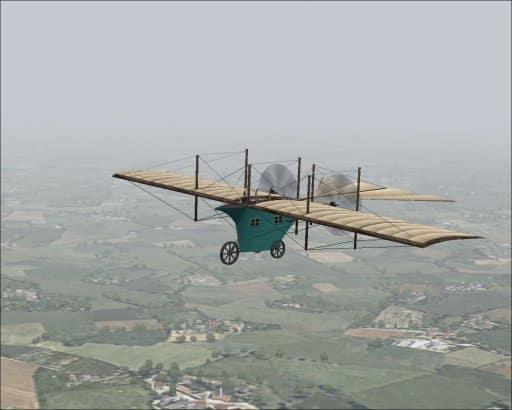 FS2004 Henson's Aerial Steam Carriage (1842) - Flight