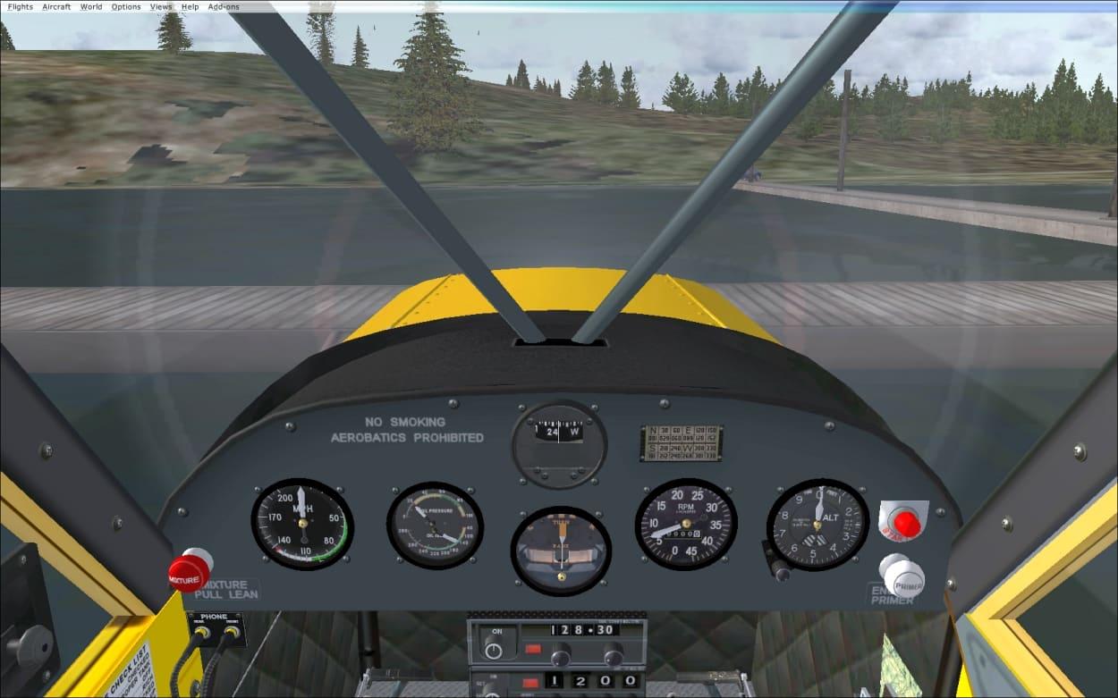 FS2004/FSX Super Cub PA18 panel fix - Flight Simulator Addon / Mod