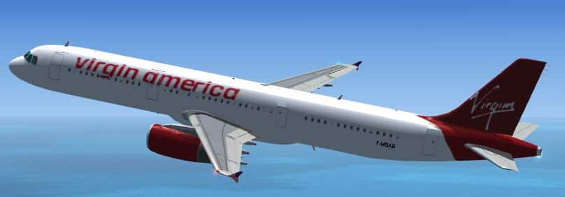 FSX Airbus A321 Virgin America  - Flight Simulator Addon / Mod