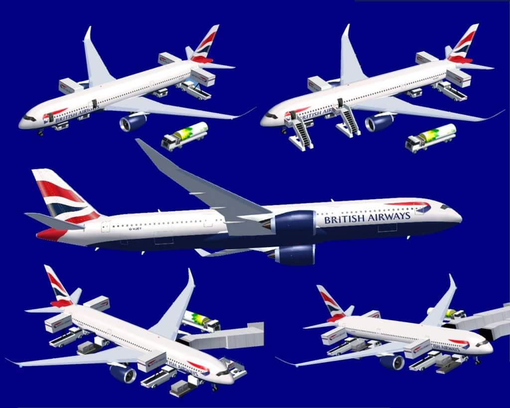 FSX Airbus A350-900(R) British Airways - Flight Simulator Addon / Mod