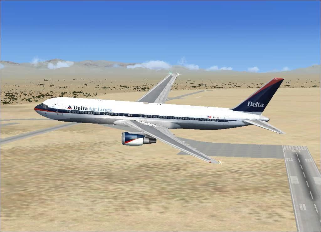 FSX Boeing 777-300 Delta Air Lines - Flight Simulator Addon