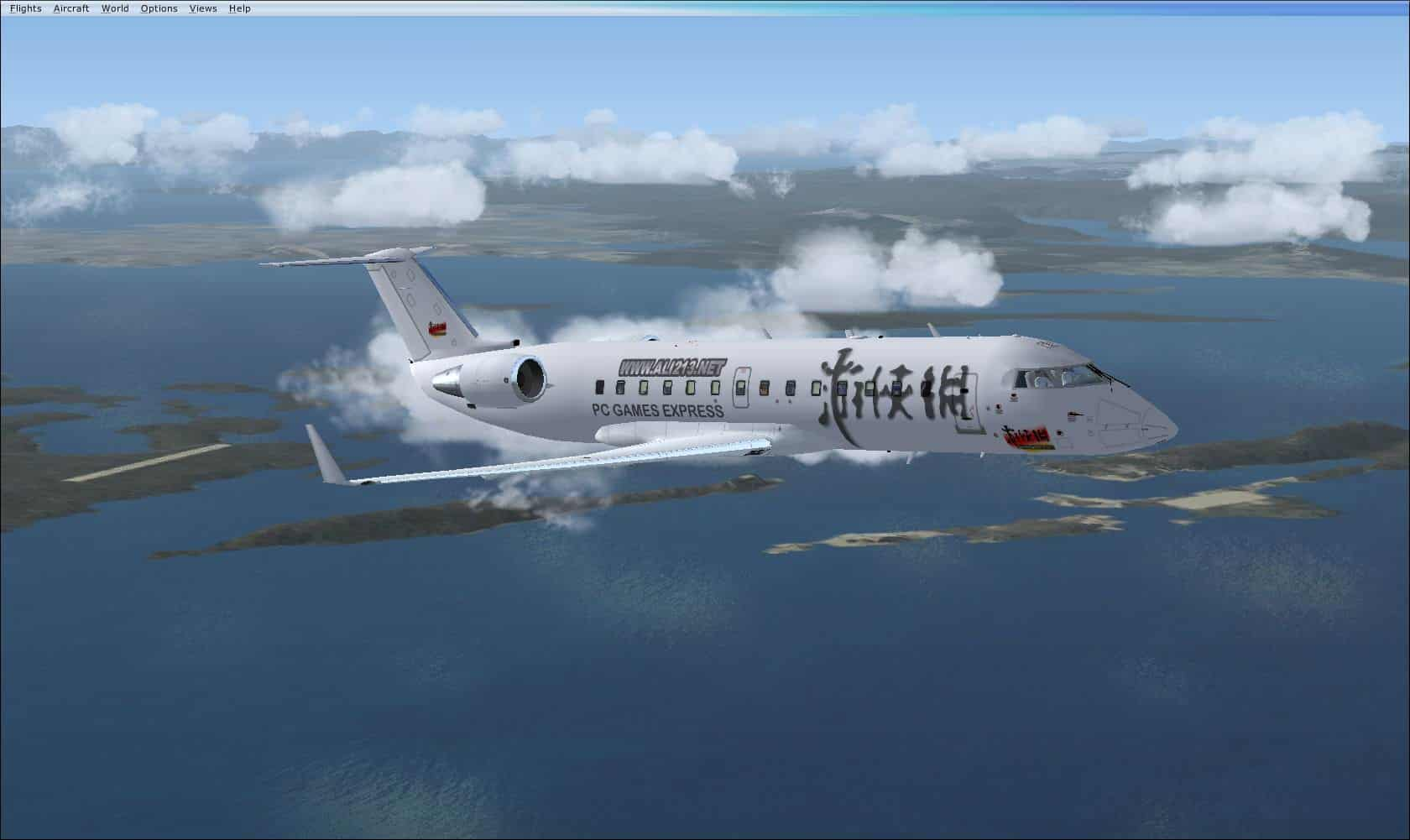 FSX Bombardier CRJ-200 ali213 net Livery  - Flight Simulator