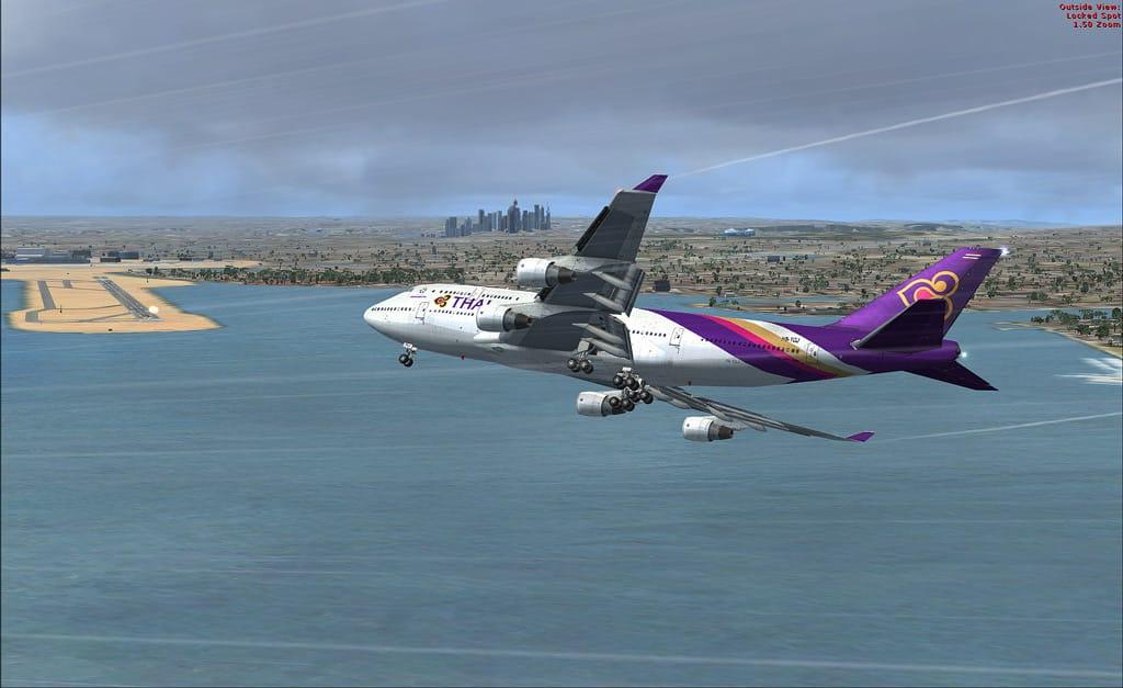 FSX Default Boeing 747-400 Thai livery Textures - Flight