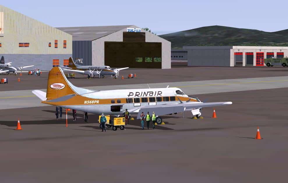 FSX / FS2004 De Havilland DH-114 Heron, Prinair Multi-Plane Package