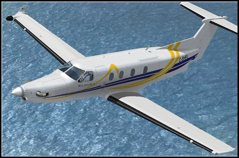FSX Flight 1 Pilatus PC12 C-SHFL Textures - Flight Simulator