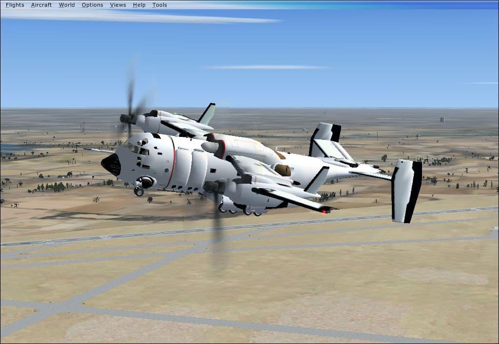 FSX/FS2004 ESWAT T Supra Fiction VTOL Aircraft (fixed