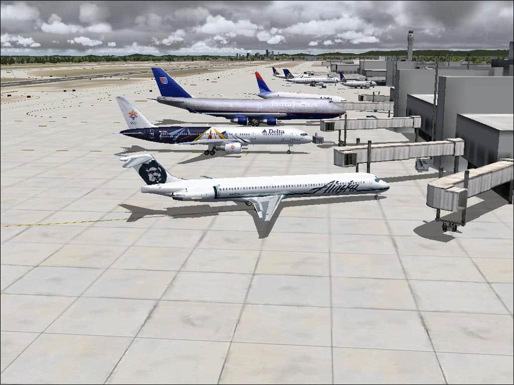 FS2004 Alaska Airlines (ASA) AI Traffic v1 3 - Flight