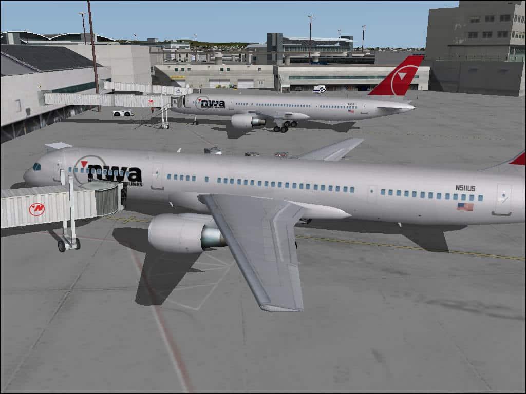 FS2004 Northwest Airlines AI Traffic v1 0 - Flight Simulator Addon / Mod
