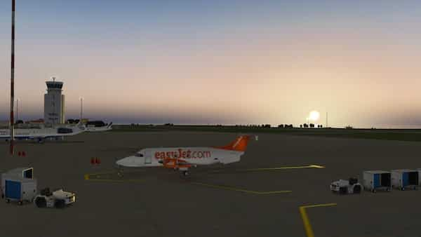 Guernsey Airport (EGJB), Channel Islands, UK - Flight Simulator