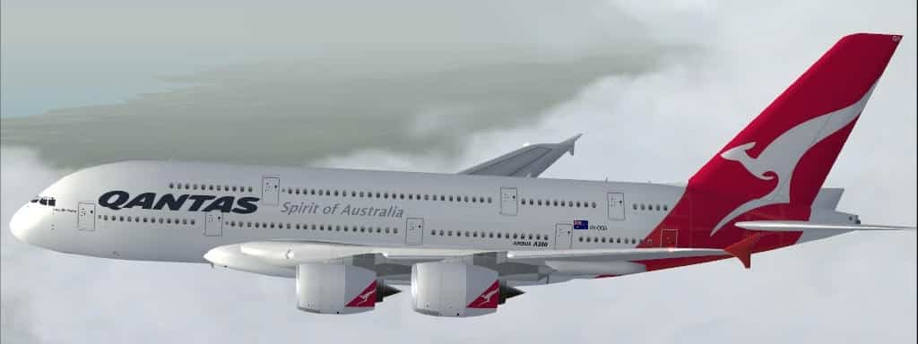 AIRBUS A380-841 QANTAS VH-OQA for FSX - Flight Simulator
