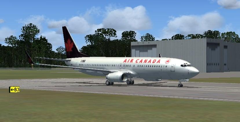 Boeing 737-800 Air Canada Textures - Flight Simulator Addon