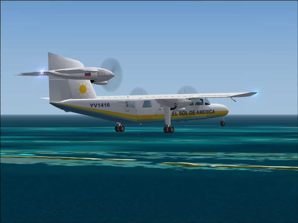FS 2004 Britten Norman Trislander BN-2A Mk III El Sol de America