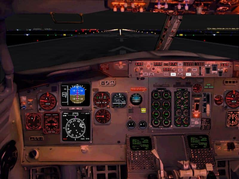 FS2004/FS2002 Boeing 737-200 Panel - Flight Simulator Addon