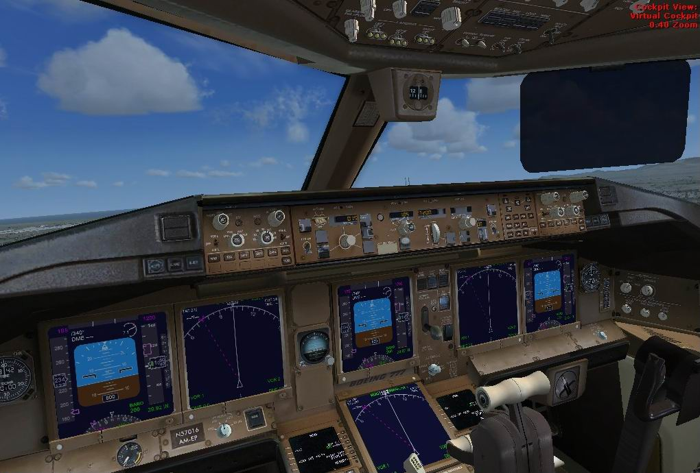 FSX Panel update for the Project Opensky Boeing 777-200