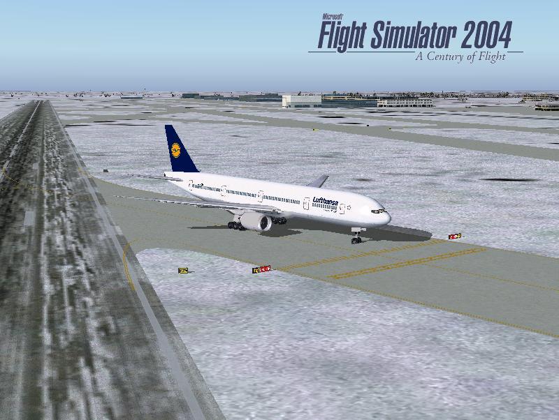 FSX/FS2004 Lufthansa Boeing 777-300 Textures - Flight