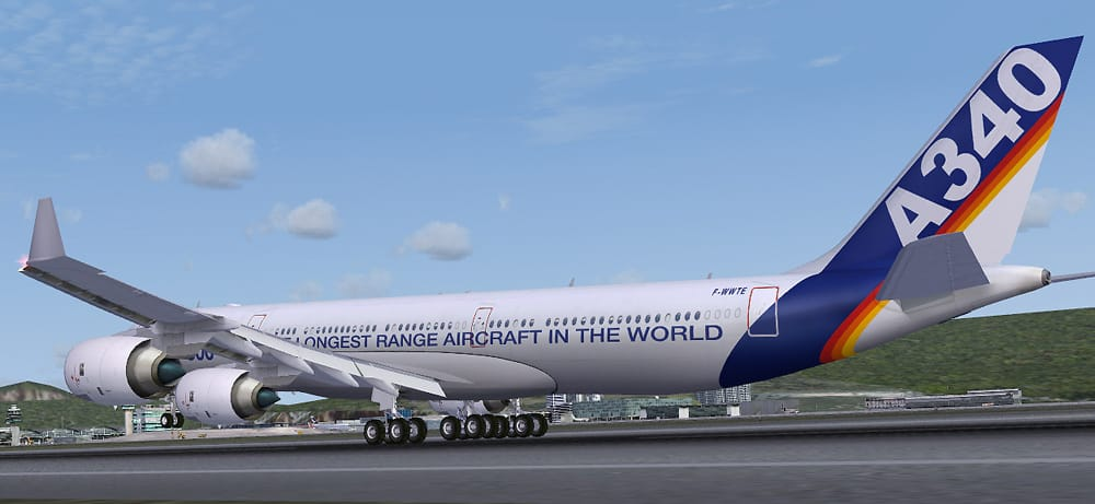 FSX A340-600 Multi livery Package - Flight Simulator Addon / Mod