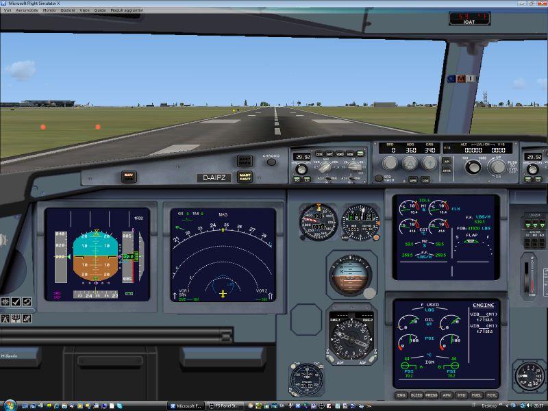 FSX Airbus A320 Panel - Flight Simulator Addon / Mod