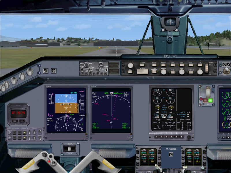 FSX Embraer ERJ 170 panel  - Flight Simulator Addon / Mod