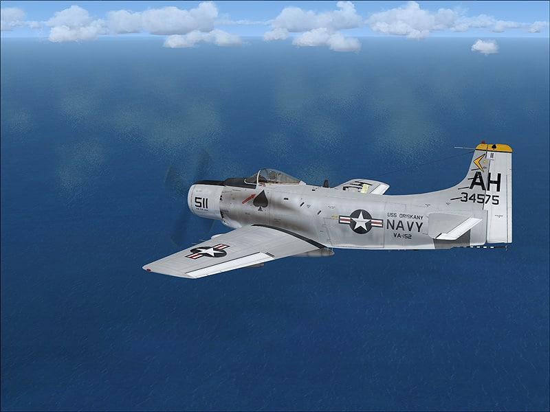 FSX U S Navy Douglas A-1 Skyraider US NAVY VA-152 USS