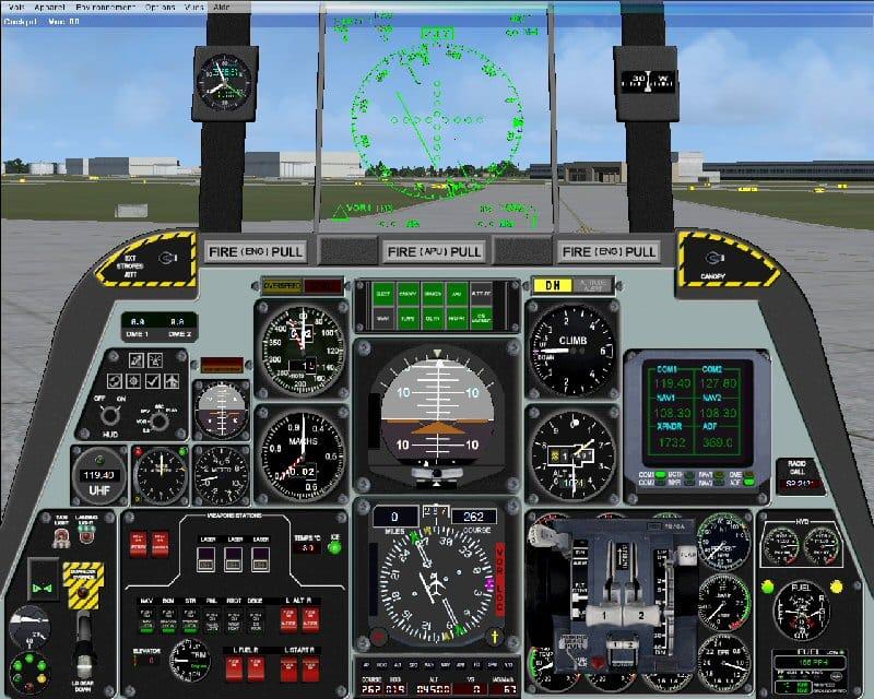 fairchild a10 thunderbolt 2d panel flight simulator addon mod