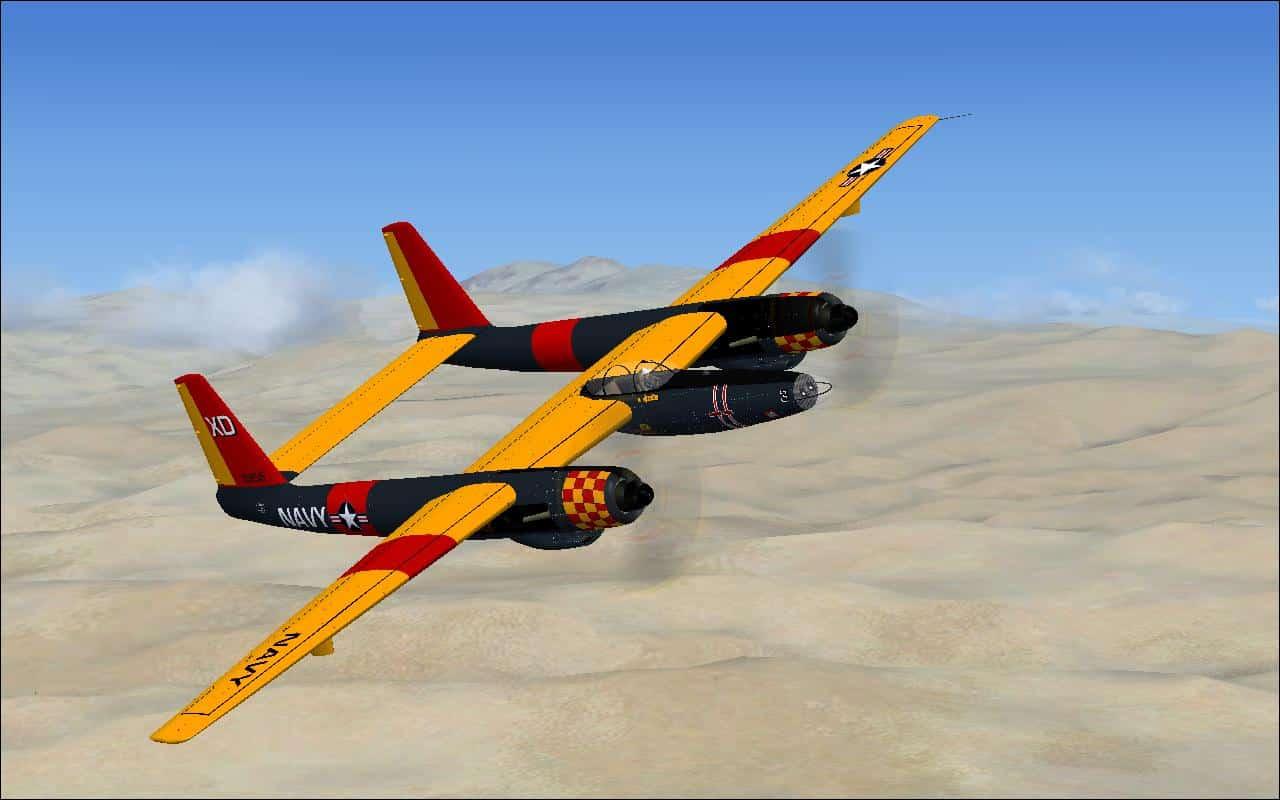 Hughes XF-11/UOH Navy Textures - Microsoft Flight Simulator X Mod