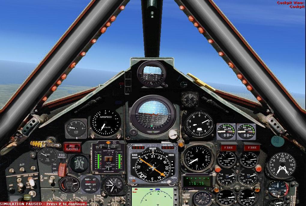 Blackbird plane cockpit