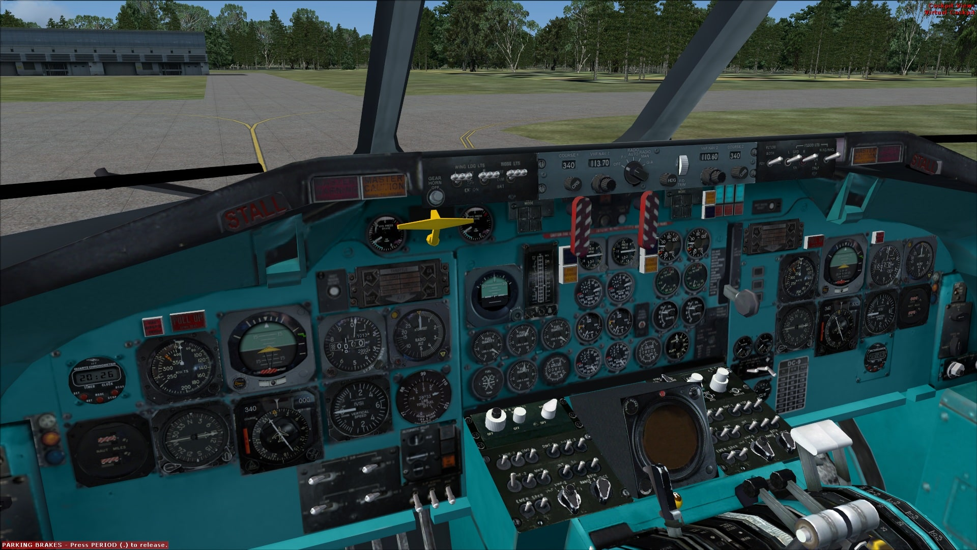 Mc Donnell Douglas DC9 2D panel - Flight Simulator Addon / Mod