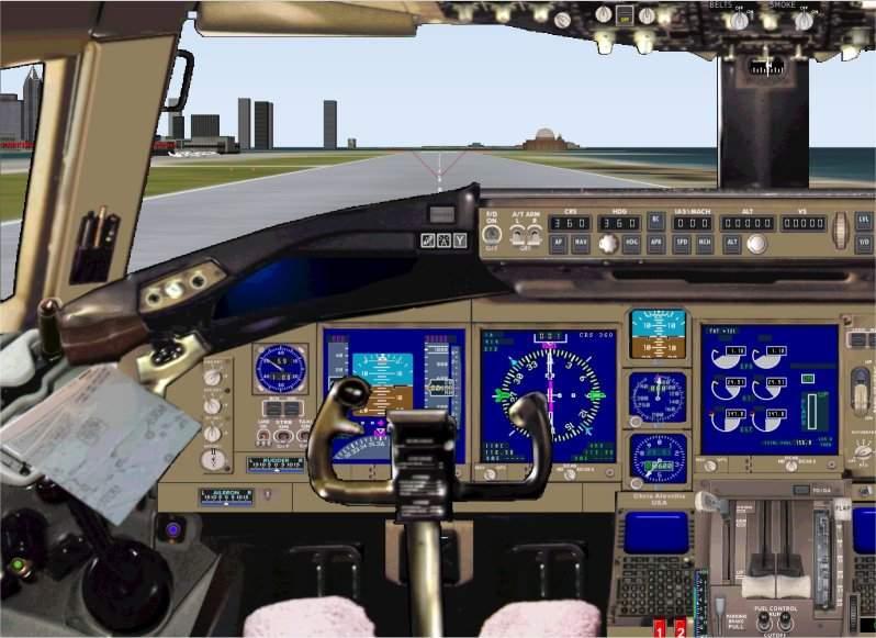 FS2000 panel: Boeing 767-400 ER - Flight Simulator Addon / Mod