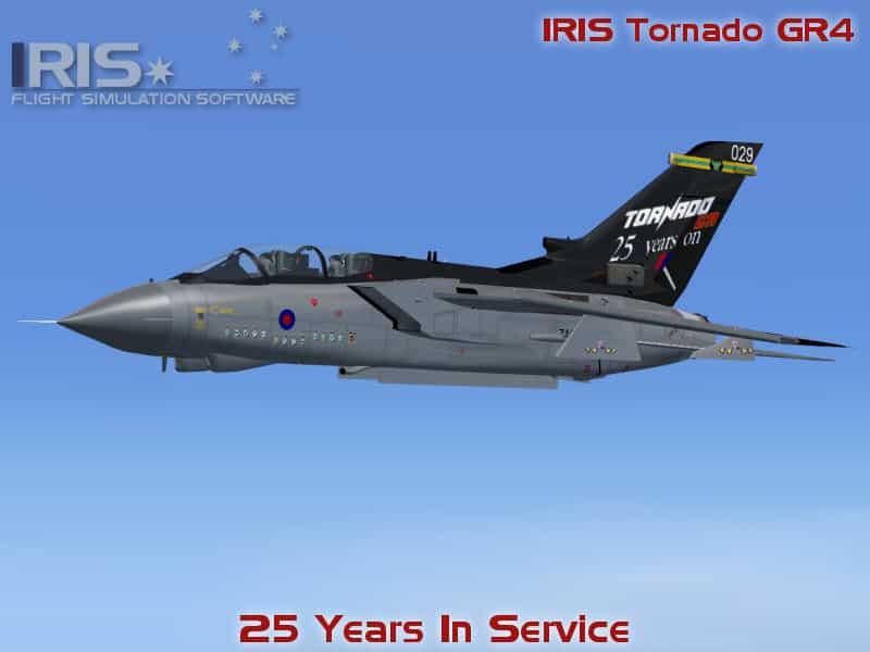 FS2002 / FS2004 Tornado GR4  25 Years in Service special scheme