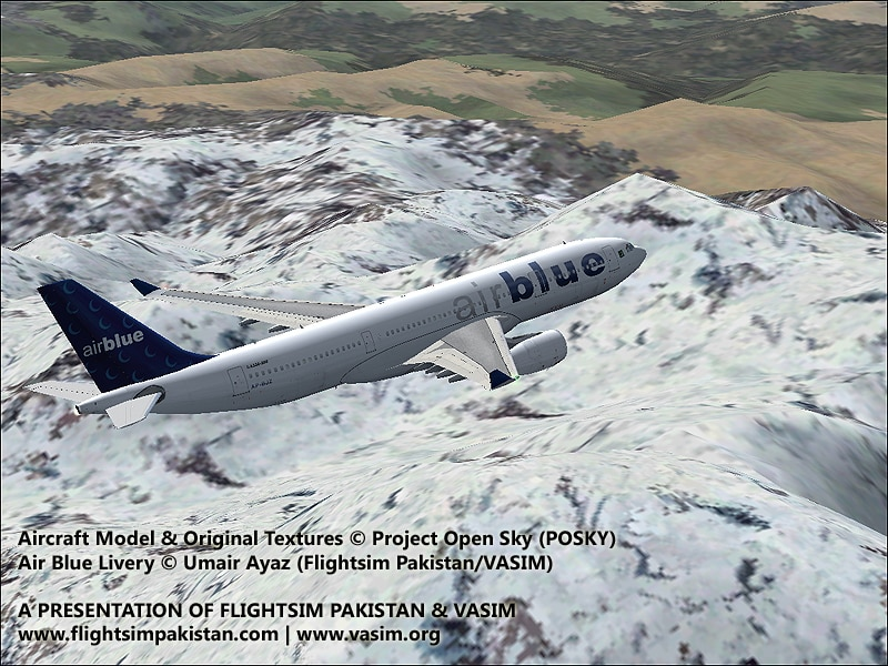 FSX-AirBlue Airbus A330-200 - Flight Simulator Addon / Mod