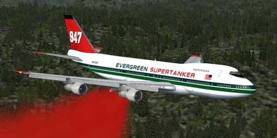 FSX-Boeing 747 Evergreen Supertanker - Flight Simulator