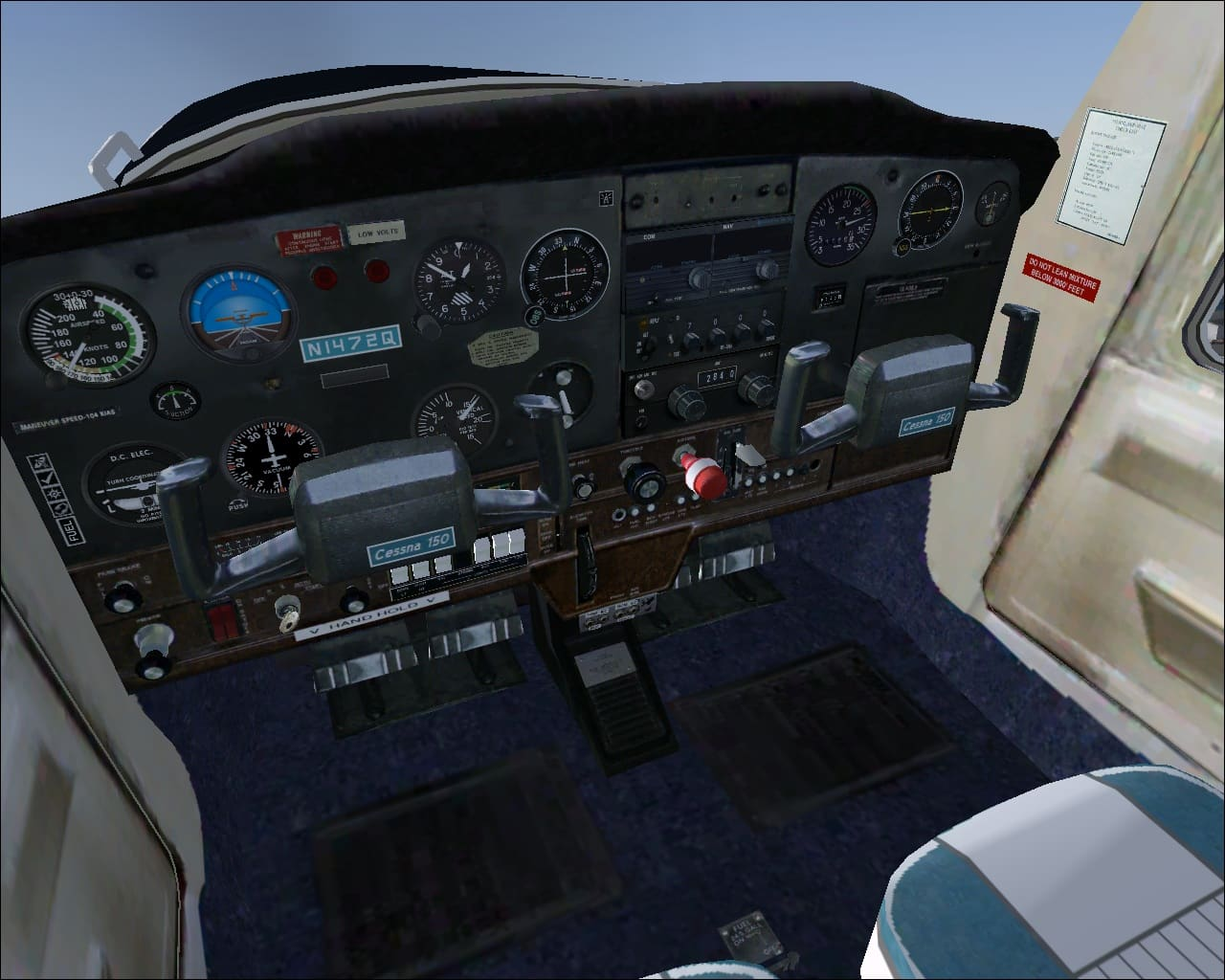 FSX Cessna 150 real world N1472Q textures for the 'Just Flight/FS