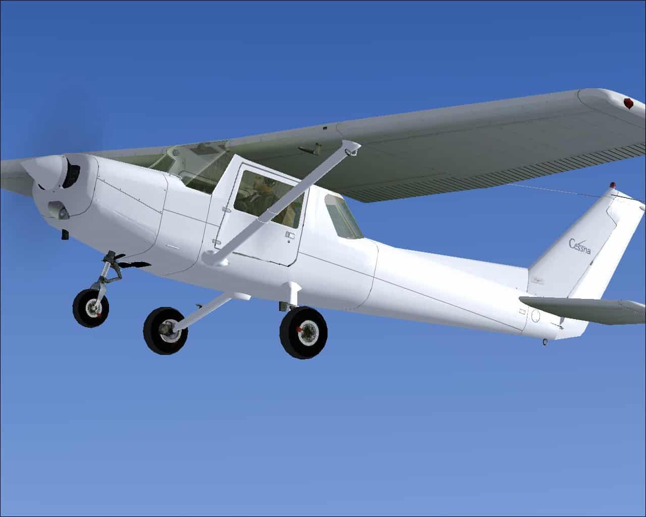 FSX Cessna 152 Blank White Texture - Flight Simulator Addon / Mod