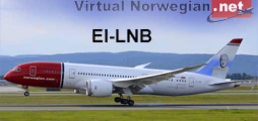 Aerosim Boeing 787-8 Noregian EI-LNB Textures - Flight