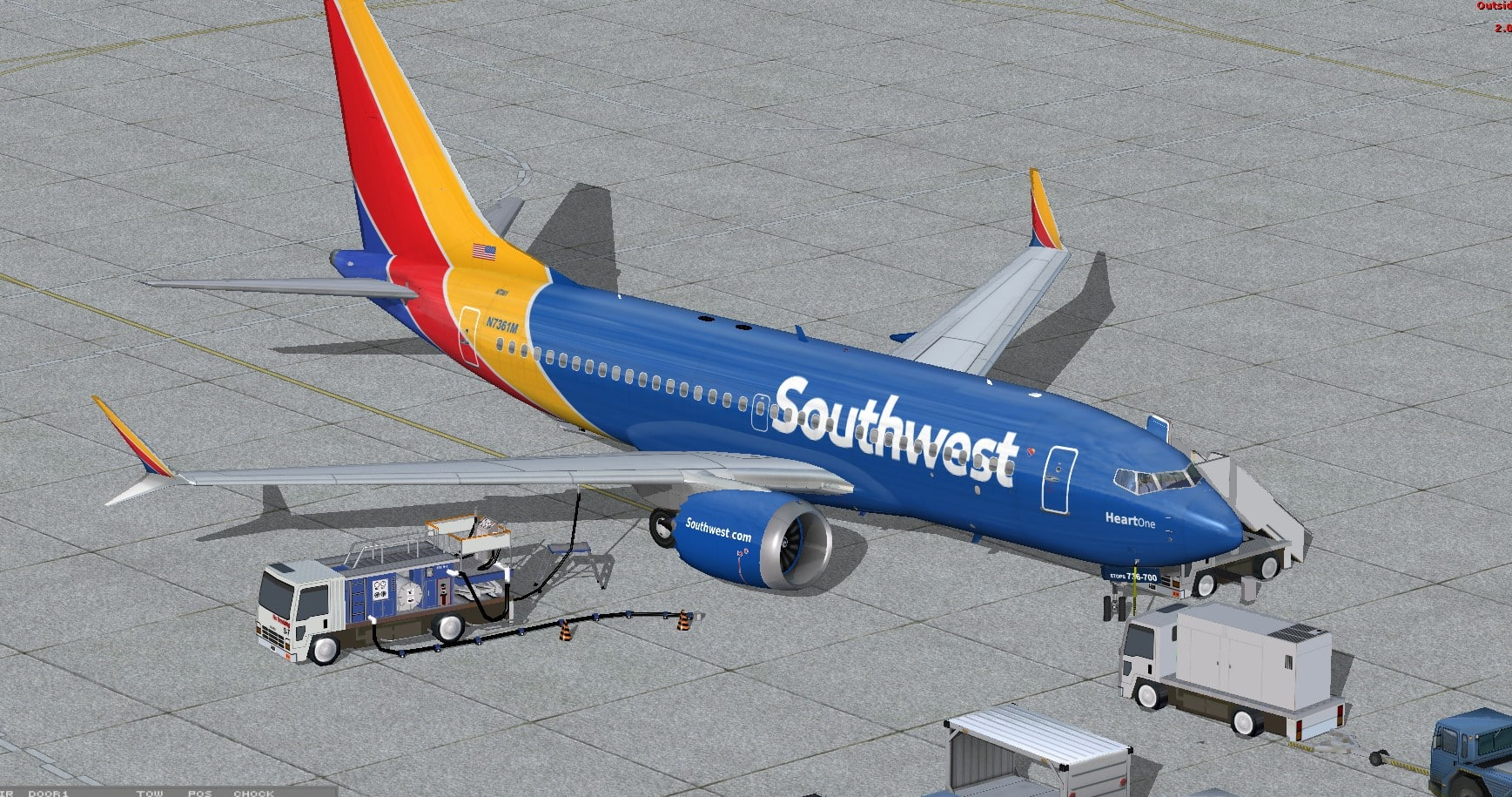 Boeing 737 MAX7 Southwest Airlines Package - Flight Simulator Addon