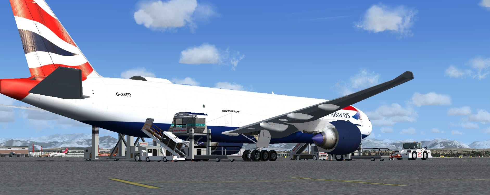 Boeing 777-200LRF British Airways World Cargo package