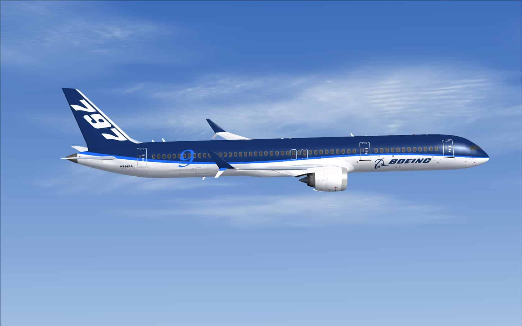 Boeing 797 9 Boeing House Colors Flight Simulator Addon