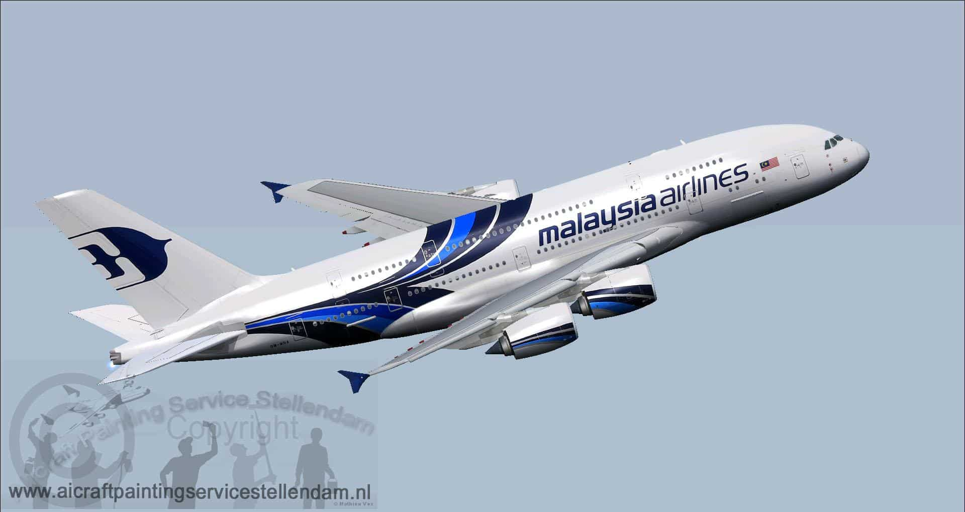FSX/P3D Airbus A380 Malaysia Airlines With VC - Flight