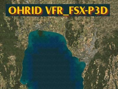P3D/FSX Ohrid-VFR, Macedonia area scenery - Flight Simulator Addon / Mod