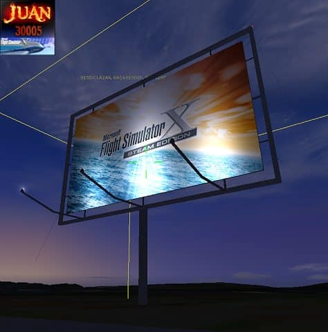 FSX Steam Edition 3D FSX Road Sign Scenery Object - Flight Simulator